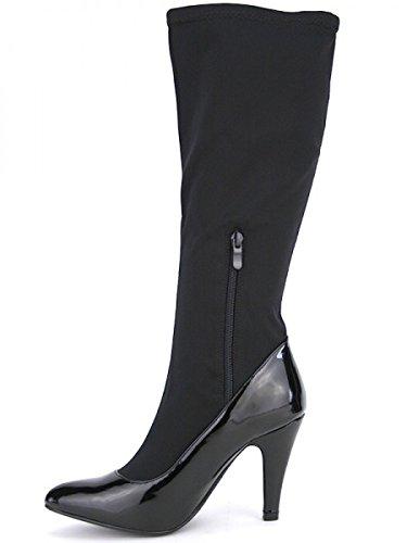 Cendriyon, Botte façon Chaussette RIANAU Mode Chaussures Femme Noir