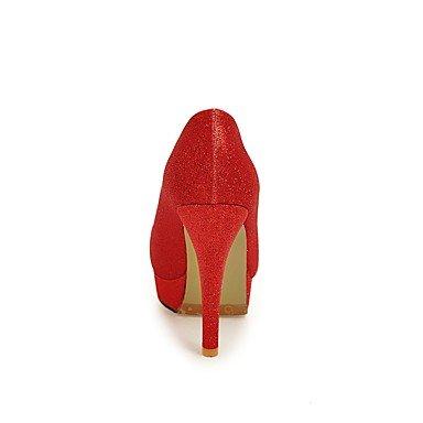 LFNLYX Frauen Fersen Frühling Sommer Herbst Winter Club Schuhe Kundenspezifische Materialien Hochzeitsfest & Abendkleid Stiletto Ferse Rot Silber Gold Red