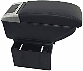 Goodway luxurious quality car center sliding armrest multi console box with holder (Black) for Maruti Swift LDI SP Limited Edition
