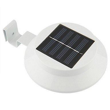 3-LED Solar Powered by Fence Gutter lumière jardin extérieur mur Jardin Lampe Voie