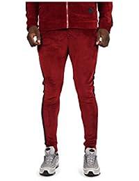 Project X Paris Bas de Jogging Velvet Bandes latérales Homme L, Rouge cb000ed922ea