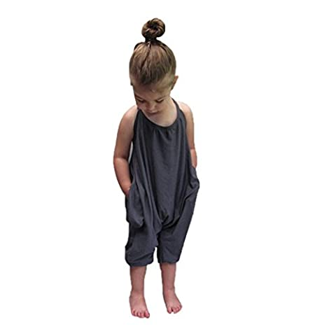 Saingace Kleinkind -Baby Riemchen Strampler Jumpsuits Teiler Hose Kleidung Kinderkleidung