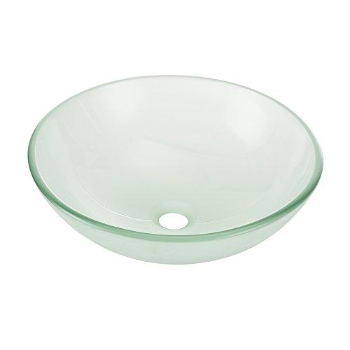 en in Milchglas-Optik rund (Ø42cm) Aufsatzbecken Schale ()
