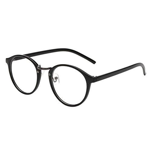 Haodasi Jahrgang Cat Eye Kurzsichtigkeit Myopia Brille Kurzsicht Brille Kurzsichtig Brille Unisex -1.0 -2.5 -3.0 -4.0 -4.5 -5.5 -6.0 Matt-schwarz (Diese sind nicht Lesen Brille)