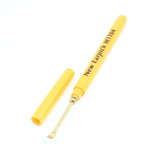 amarillo-metal-limpiador-de-oidos-oido-cureta-cera-limpiador-quitaesmalte-cuchara-pinzas