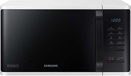 Samsung MG23K3513AW/EG Mikrowelle mit Grill / 800 W /23 L Garraum / 48,9 cm Breite / Quick Defrost / 27…