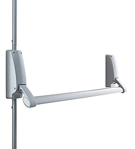 Briton 376.SE Vertical Panic Bolt Push Bar Exit Devices - Silver