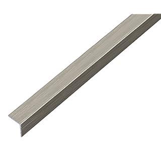 GAH-Alberts 488741 Winkelprofil - selbstklebend, Aluminium, edelstahldesign, dunkel, 1000 x 20 x 20 mm