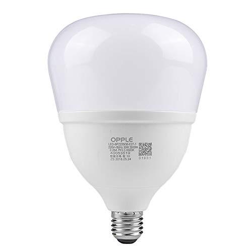 LED 20w 30w 40w 50w E27-Sockel, Birne, warmes Weiß, nicht dimmbar, mattiert [Energieklasse A +] LED-Birne große Schraube E27 weißes Licht Hochleistungs-Industrieheim kommerzielle Energiesparlampe -