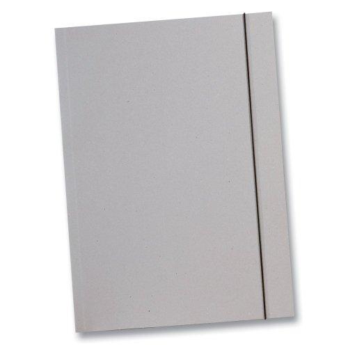 Folia Sammelmappe aus Graupappe 500g/m², DIN A3, mit Gummiband, grau (10 Stück)