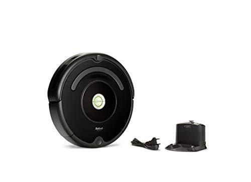 iRobot Roomba 671 Saugroboter (reinigt alle Hartböden und Teppiche, Dirt Detect Technologie, 3-Stufen-Reinigungssystem, WLAN-fähig und per App programmierbar) schwarz