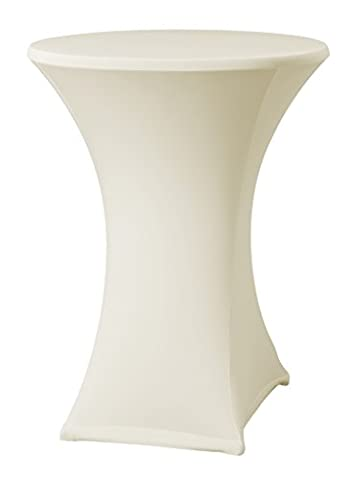 Dena 023291 Stretch cover for Cocktail table Samba D2, diameter Ø80-85 cm, Champagne
