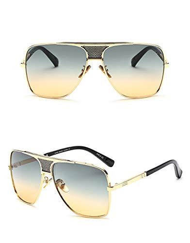 Eye-nak Oversized Herren Sonnenbrille in vielen Farben (C7 Silber)