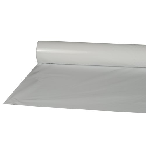 Papstar Tischdecke / Tischtuchrolle weiß (1 Stück), aus LDPE Folie, 50 x 0.8 m, abwaschbar, robust, feuchtigkeitsresistent, für Haushalt oder Feierlichkeiten, #10589