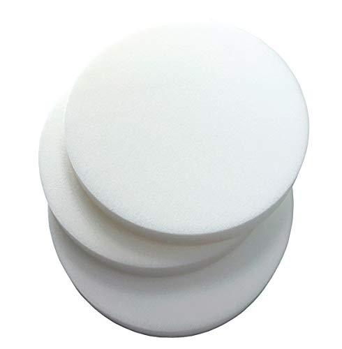 Eponge mousse ronde diamètre 41 cm épaisseur 3 polyuréthane expansé rembourrage haute densité 25 100% Made in Italy mod.Éponge ronde 41