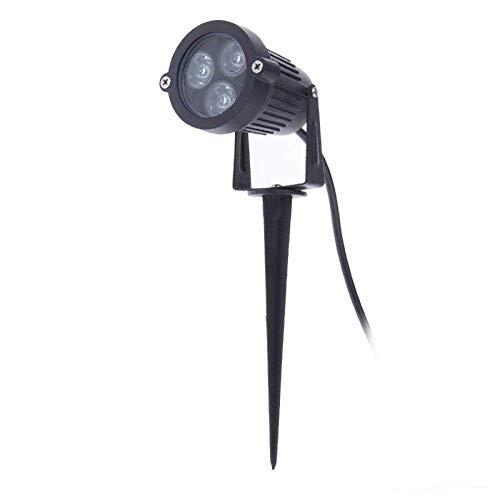 Eidyer LED Lámpara de césped con espiga, 3W LED lámpara de césped...