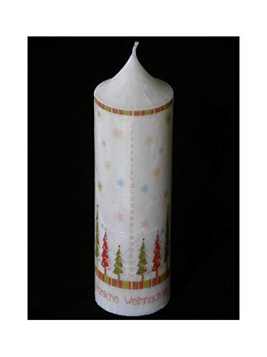 Candle making XL Stearin Adventskerze Adventskalender-Kerze mit Zahlen 1-24 Weihnachtskerze 270/70mm Palmwachskerze