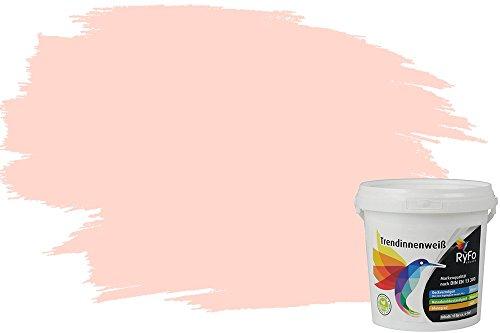 RyFo Colors Einhornrosa 1l (Größe wählbar) - hochwertige zertifizierte rosa Wandfarbe für sensible Räume, bunte Innenfabe
