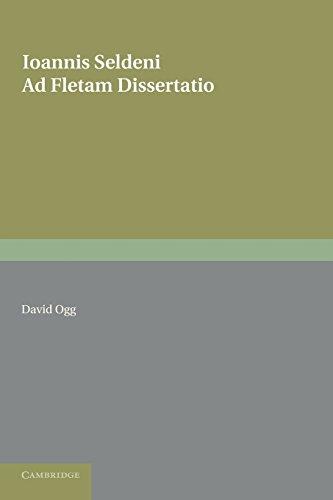 Ioannis Seldeni Ad Fletam Dissertatio