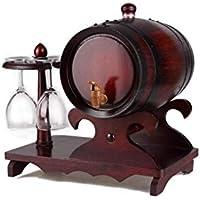 AJJ Dispensador de Whisky Vintage Oak Wine Barrel - sin Forro, Racks de Mesa con