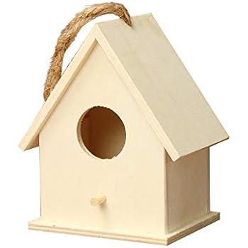 DFVVR Nesting Box Bird House Novelty Bird Nesting Box Garden Decorations Bird Box Outdoor Wooden Box House for Bird