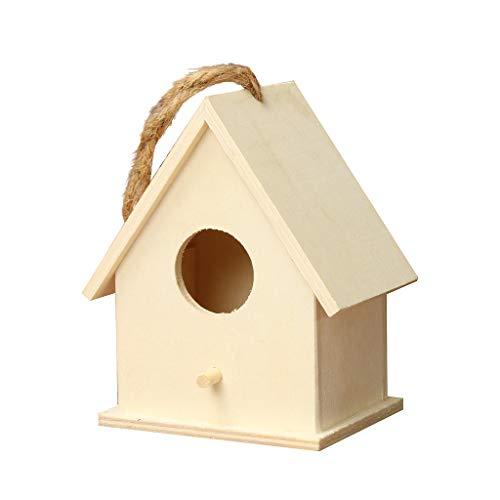 DingLong Vogelhaus Nistkasten, Vogelhäuschen aus Holz, Geschenk für Vogelliebhaber/Naturliebhaber, Aufhängen für Garten und Balkon (12X7X10cm)