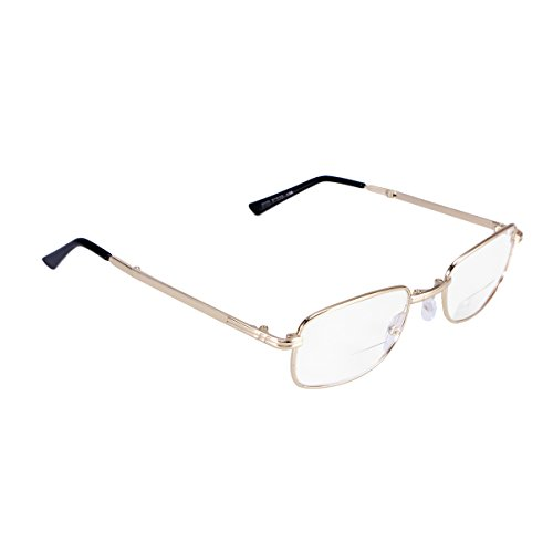 Healifty Spring Hinge Reading Glasses Anti Fatigue Presbyopic Glasses Eyeglasses for Far and Close Viewing (150 Degree)