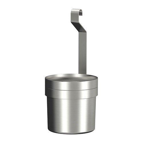 IKEA Grundtal Besteckständer, Edelstahl Hängebehälter 12 cm für Hängeleiste