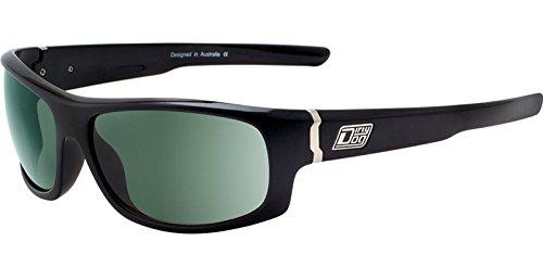Dirty Dog Fledermaus-Sonnenbrille, polarisiert, glänzend, Schwarz