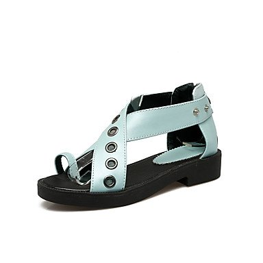 Sandali Primavera Estate Autunno scarpe Club PU Office & Carriera Abbigliamento Sportivo bassa catena tacco Blu Bianco Rosa Blue