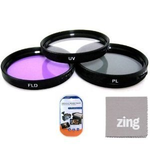 Big Mike 27s 49mm Multi-Coated 3 Piece Filter Kit (UV-CPL-FLD) for Panasonic HC-WXF991K, HC-VX981K, HC-X900/M, HC-X920K Camcorder  available at amazon for Rs.2547