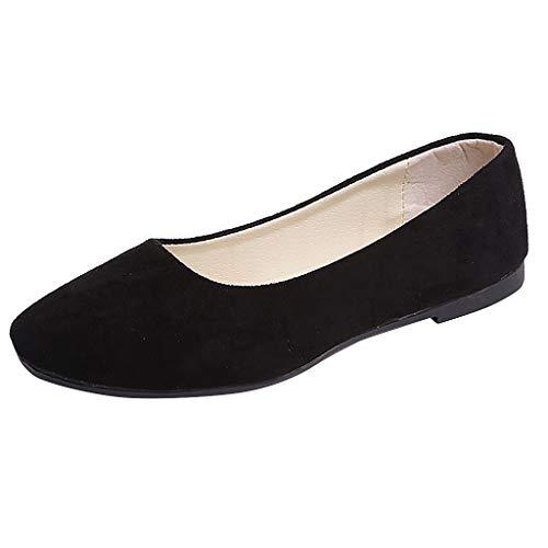 Ashui Damen Fahren Flache Schuhe Bootsschuhe Halbschuhe Mode Wild Stiefel Slippers Freizeit Atmungsaktiv Leder Loafers Erbsenschuhe Mokassins Walkingschuhe Wanderschuhe