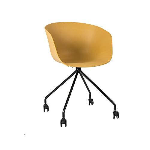 Zhihui Hocker ZZHF dengzi Drehstuhl, Arbeitstisch für Büro/Restaurant mit Rollen 42 * 81cm gelb