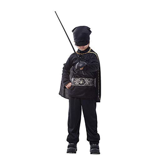 Halloween Boy Kostüm Little - Canness-clothing Cosplay Halloween Boy Strumpfhosen Kinder Masked Little Knight Set (Größe : L)