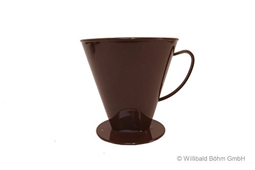 Kannenaufsatz 8-12 Tassen, braun, Kaffeefilter - Sonja-PLASTIC, Made in Germany