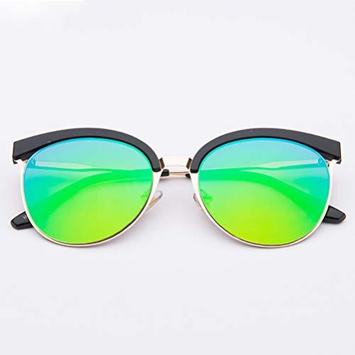 YRE Kindersonnenbrille Fashion Persönlichkeit Harz Baby Sonnenbrille, Moderne Kinderschattenspiegel, 2-8 Jahre alt,Green
