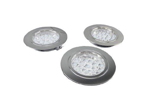 3er Set 5W Edelstahl LED Einbauleuchten in Warmweiß inkl. Trafo und Zuleitung mit Euro-Stecker! // Weitere Suchbegriffe: Küchenleuchte Küchenlampe Badbeleuchtung Badezimmerbeleuchtung Badezimmerleuchte Einbauleuchte Einbaulampe Einbauspot Einbaustrahler Spot Spott Spots Spotts Strahler Spottbeleuchtung Spotbeleuchtung Vitrinen Leuchte Vitrinenleuchte Lampe Energiesparlampe