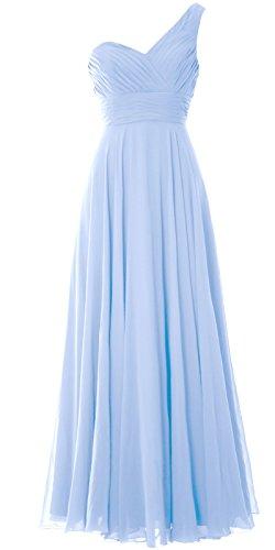 MACloth - Robe - Asymétrique - Sans Manche - Femme Bleu - Bleu ciel