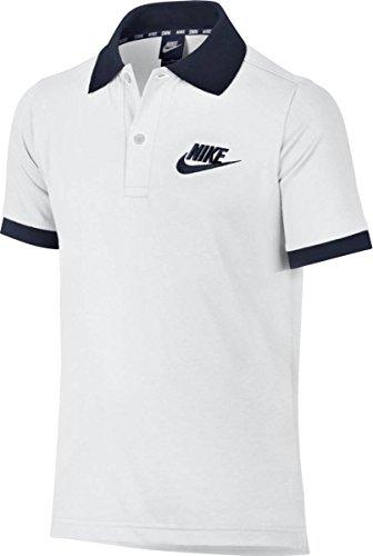 Nike B Nsw Polo Matchup - Polo Jungen, Farbe Blanco (Blanco / Blanco / Obsidian)