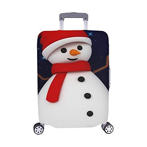 (3 D Schneemann Netter Charakter Roter Weihnachtsmann Stock Illustration Muster Spandex Trolley Reisegepäck Beschützer Kofferabdeckung 28.5 X 20.5 Zoll)