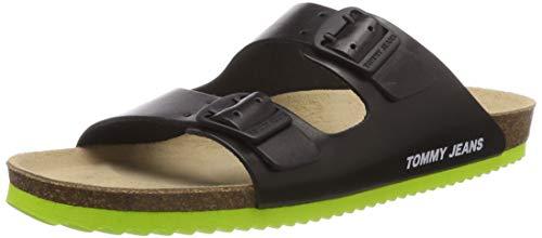 Hilfiger Denim Tommy Jeans Buckle Sandal, Infradito Uomo, Nero (Black 990), 41 EU