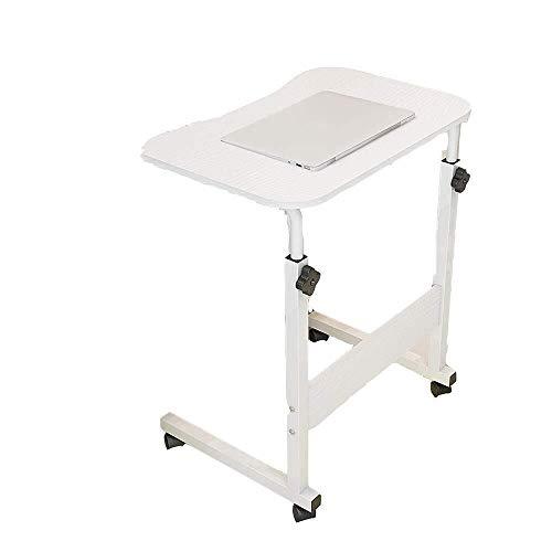 MXK Verstellbarer Rundtisch 60 cm Mobiler Laptop Computer Ständer Schreibtischwagen Tablett Beistelltisch Für Bett Sofa Krankenhaus Pflege Lesung Essen (Color : B) -