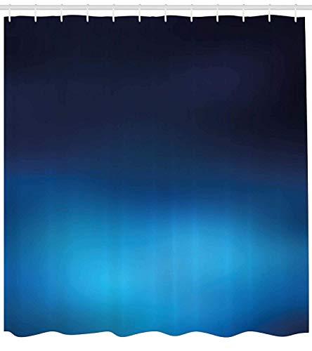 Tiefsee-grafik (Nyngei Navy Duschvorhang Ombre Stil Tiefsee Ozean Unterwasser Themen Digitale farbige Grafik-Design Kunstdruck Stoff Badezimmer Dekor Set mite dunkelblau)