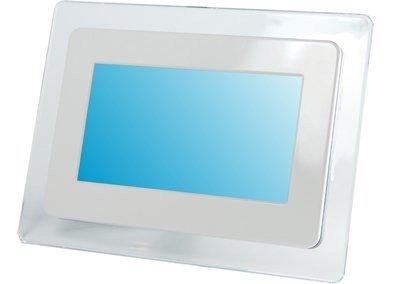 Yuraku Photo 7 B Digitaler Bilderrahmen (17,8 cm (7 Zoll) Display, Pivotfunktion, SD/MMC/MS/XD Kartenleser, USB 1.1) weiß