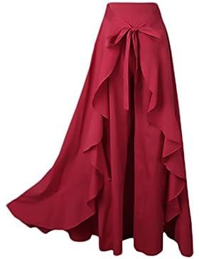 Mujer Falda Pantalon Elegantes C