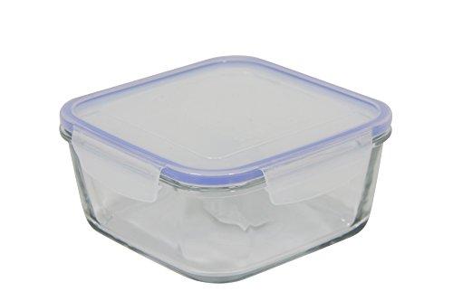 Unbranded Superblock caja cuadrada con tapa de cristal transparente