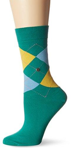 Burlington Damen Socken Queen, Mehrfarbig (Emerald 7230), 36/41 (Herstellergröße: 36-41)