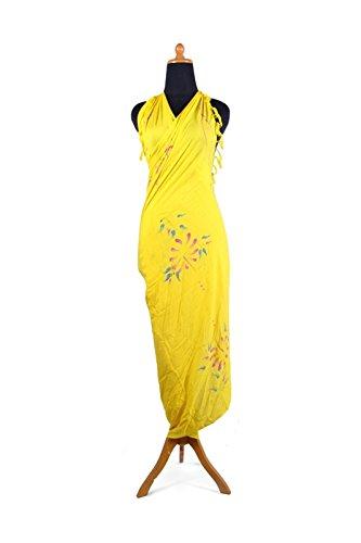 Telo coprente, come sarong, asciugamano da spiaggia, circa 170cm x 110cm, molti fantastici colori a scelta Gelb Blume