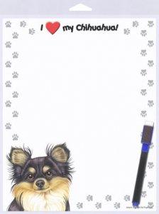Lavagnetta magnetica con Chihuahua dal pelo lungo