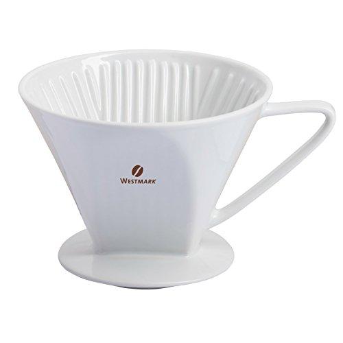 Westmark Porzellan-Kaffeefilter/Filterhalter, Für bis zu 4 Tassen Kaffee, Filtergröße 4,...